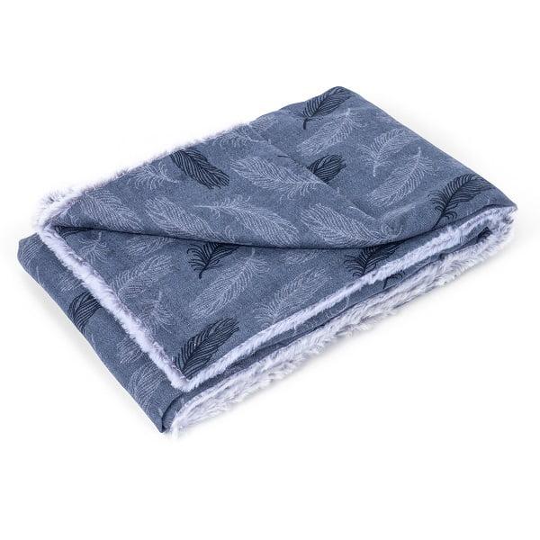 Luxury Grey Feather Blanket