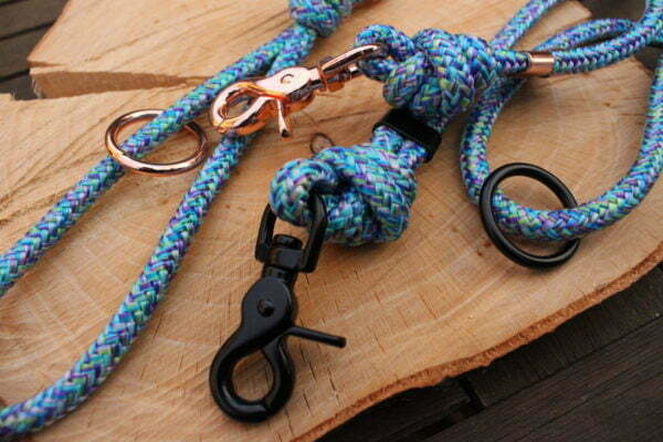 Mermaid Blue Rope Dog Lead
